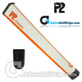 P2 Classic Jumbo Putter Grip - White / Orange