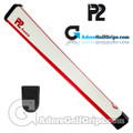 P2 Aware Midsize Putter Grip - White / Red