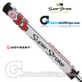 SuperStroke Odyssey Flatso 1.0 CounterCore Toe Up Putter Grip - White / Red / Black