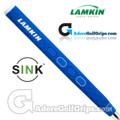 Lamkin Sink Rounded 13 Inch Jumbo Pistol Putter Grip - Bright Blue / White / Black