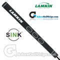 Lamkin Sink Squared 11 Inch Midsize Pistol Putter Grip - Black / White