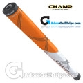 Champ C1 Small Midsize Putter Grip - Neon Orange / White