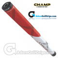 Champ C1 Small Midsize Putter Grip - Hot Red / White