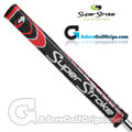 SuperStroke Flatso 1.0 Legacy Series Putter Grip - Midnight Black / Red / Silver