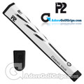 P2 Classic TOUR Jumbo Putter Grip - White / Black