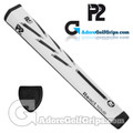 P2 React TOUR Jumbo Putter Grip - White / Black