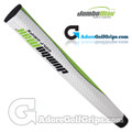 JumboMax Mid Jumbo Pistol Putter Grip - White / Lime Green / Black
