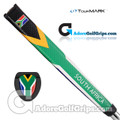 TourMARK South Africa Jumbo Pistol Putter Grip - Green / Yellow / Black