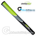 "JumboMax Tour Series Jumbo (JUNIOR +1/8"") Grips - Black / Grey / Lime Green"