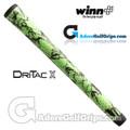 Winn Dri-Tac X Midsize Grips - Lime Green / Black Marble