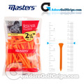 Masters Golf Plastic Tees - Extra Long - 2 3/4 Inch (70mm) - Orange (30 Pack)