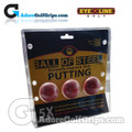 EyeLine Golf Balls Of Steel Putting Aid (3 Pack)