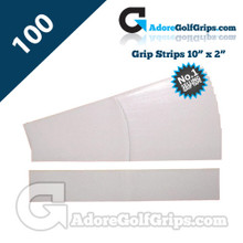 Premium Double Sided Pre-Cut Grip Tape Strips - 100 Pack