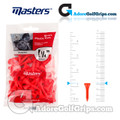 Masters Golf Plastic Tees - Short - 1 1/4 Inch (32mm) - Red (50 Pack)