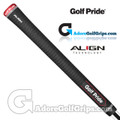 Golf Pride Tour Velvet Align Midsize Grips - Black / Red / White