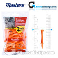 Masters Golf Graduated Plastic Tees - 2 3/4 Inch (70mm) - Orange (20 Pack)