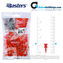 Masters Golf Graduated Plastic Tees - 1 1/4 Inch (32mm) - Red (35 Pack)