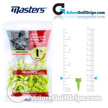 Masters Golf Graduated Plastic Tees - 1 Inch (25mm) - Lime (35 Pack)