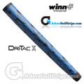 Winn Dri-Tac X Midsize Pistol Putter Grip - Blue / Black Marble