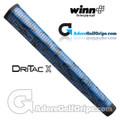Winn Dri-Tac X Jumbo Pistol Lite Putter Grip - Blue / Black Marble