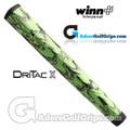 Winn Dri-Tac X Jumbo Pistol Lite Putter Grip - Lime Green / Black Marble