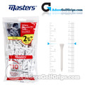 Masters Golf White Wooden Tees - Bumper Pack - 2 3/4 Inch (70mm) - White (110 Pack)