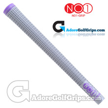 NO1 Grip 48 Series Grips - Silver / Purple