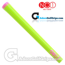 NO1 Grip 48 Series Grips - Lime Green / Pink