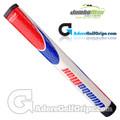JumboMax ST/1.2 Straight Taper Midsize Putter Grip - White / Blue / Red