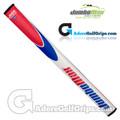 JumboMax JMX JumboFlat 17 Inch Long / Arm Lock Putter Grip - White / Blue / Red