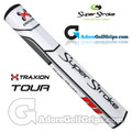 SuperStroke TRAXION Tour 5.0 Tech-Port Putter Grip - White / Red / Grey