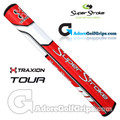 SuperStroke TRAXION Tour 3.0 Tech-Port Putter Grip - Red / White