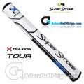 SuperStroke TRAXION Tour 3.0 Tech-Port Putter Grip - White / Blue / Black