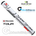 SuperStroke TRAXION Tour 2.0 Tech-Port Putter Grip - White / Red / Grey