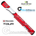 SuperStroke TRAXION Tour 2.0 Tech-Port Putter Grip - Red / White