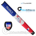 TourMARK France Jumbo Pistol Putter Grip - Blue / White / Red