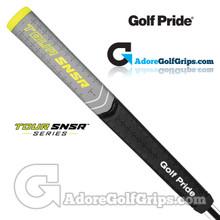 Golf Pride Tour SNSR Contour Pro 104CC Midsize Pistol Putter Grip - Black / Grey / Yellow