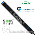 Lamkin Sink Fit Midsize Pistol Rubber Putter Grip - Black / Blue