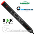 Lamkin Sink Fit Straight Non-Taper Midsize Rubber Putter Grip - Black / Red