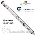 SuperStroke TRAXION Tour XL Plus 2.0 Tech-Port Putter Grip - White / Red / Grey