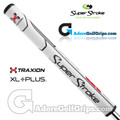 SuperStroke TRAXION Tour XL Plus 3.0 Tech-Port Putter Grip - White / Red / Grey