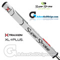 SuperStroke TRAXION Flatso XL Plus 2.0 Tech-Port Putter Grip - White / Red / Grey