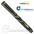 "JumboMax STR8 Tech Non-Tapered Tour Series Giant (MEDIUM +5/16"") Grips - Black / Lime Green / White"