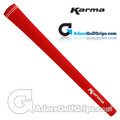 Karma Velour Standard Grips - Red