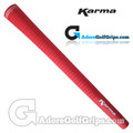 Karma Velour Midsize Grips - Red