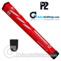 P2 Aware TOUR Midsize Putter Grip - Red / White