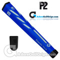 P2 Classic TOUR Jumbo Putter Grip - Blue / White
