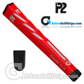 P2 Classic TOUR Jumbo Putter Grip - Red / White