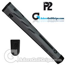 P2 Classic TOUR Jumbo Putter Grip - Grey / Black
