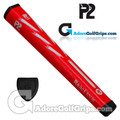 P2 React TOUR Jumbo Putter Grip - Red / White